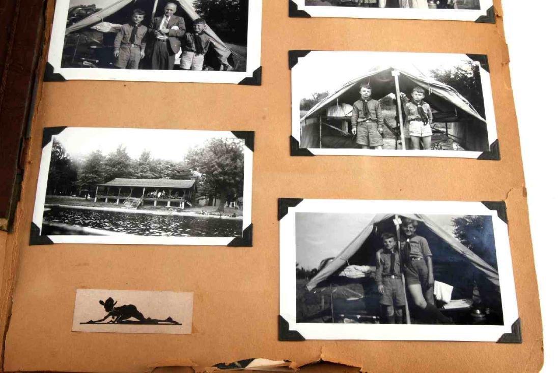 ANTIQUE US BOY SCOUT SCRAP BOOK WITH B&W PHOTOS - 3