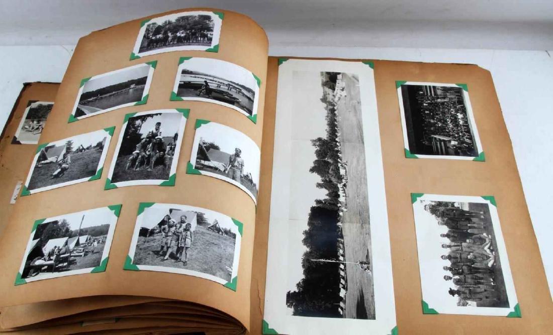 ANTIQUE US BOY SCOUT SCRAP BOOK WITH B&W PHOTOS - 4