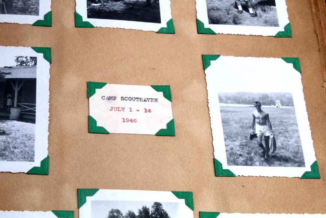 ANTIQUE US BOY SCOUT SCRAP BOOK WITH B&W PHOTOS - 5