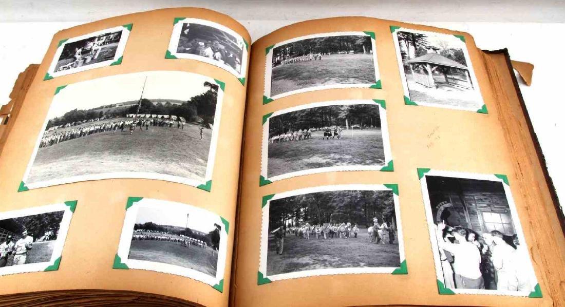 ANTIQUE US BOY SCOUT SCRAP BOOK WITH B&W PHOTOS - 6