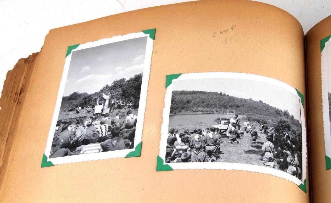 ANTIQUE US BOY SCOUT SCRAP BOOK WITH B&W PHOTOS - 7