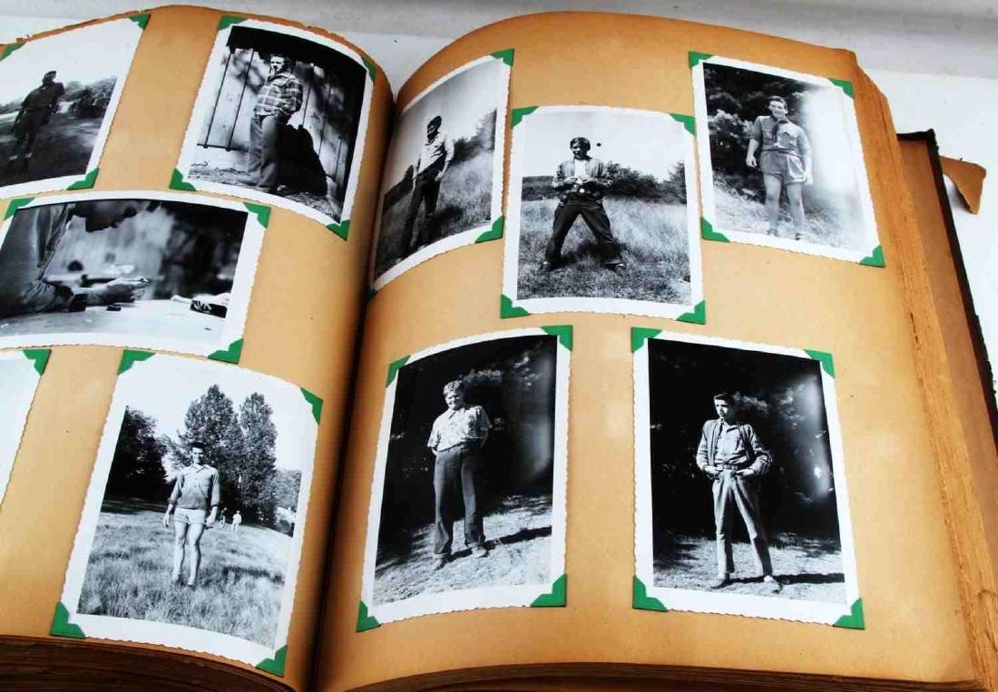ANTIQUE US BOY SCOUT SCRAP BOOK WITH B&W PHOTOS - 8