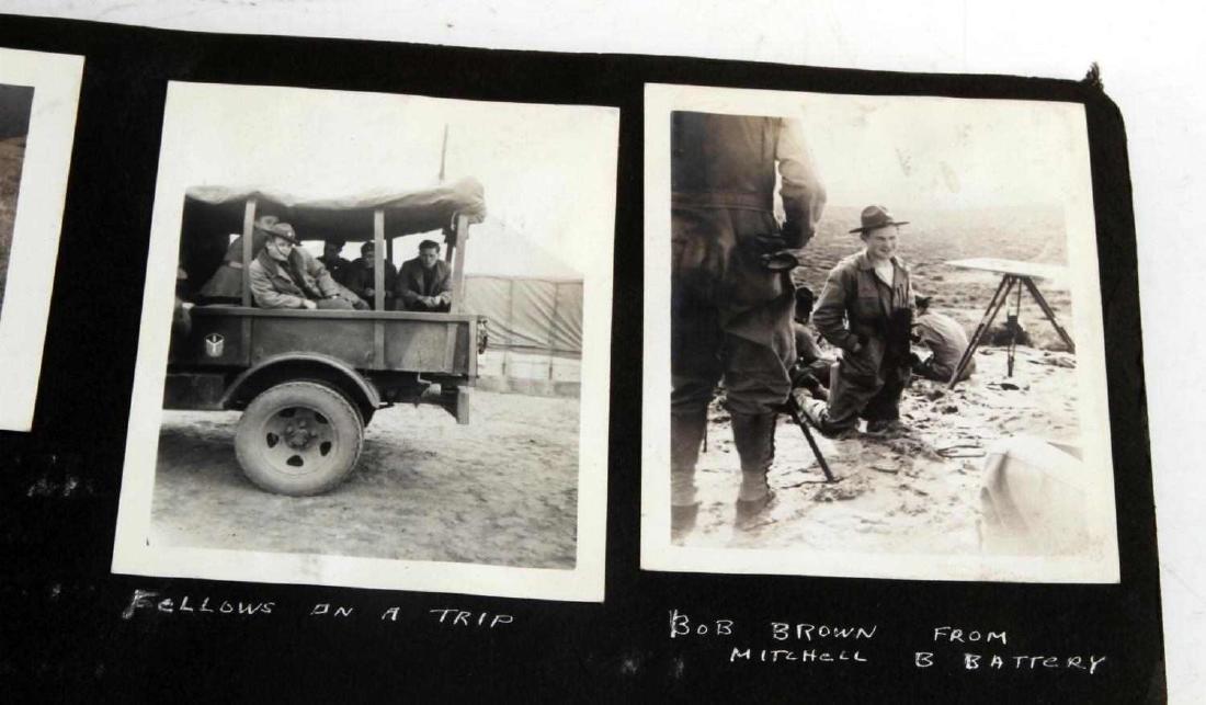 ANTIQUE US ARMY SNAPSHOTS PHOTO SCRAPBOOK - 6