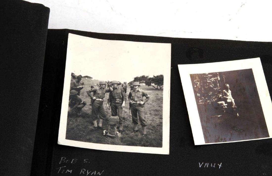 ANTIQUE US ARMY SNAPSHOTS PHOTO SCRAPBOOK - 7