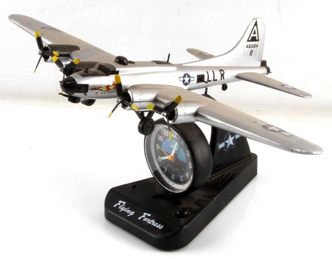 US ARMY AIR FORCE WWII B-17 FLYING FORTRESS CLOCK