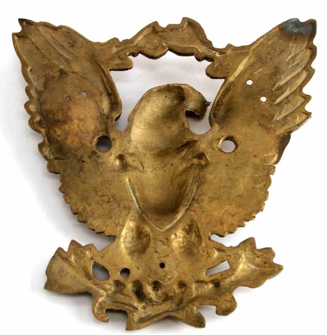 ANTIQUE FEDERAL EAGLE BRASS OUTDOOR WALL MOUNT - 3