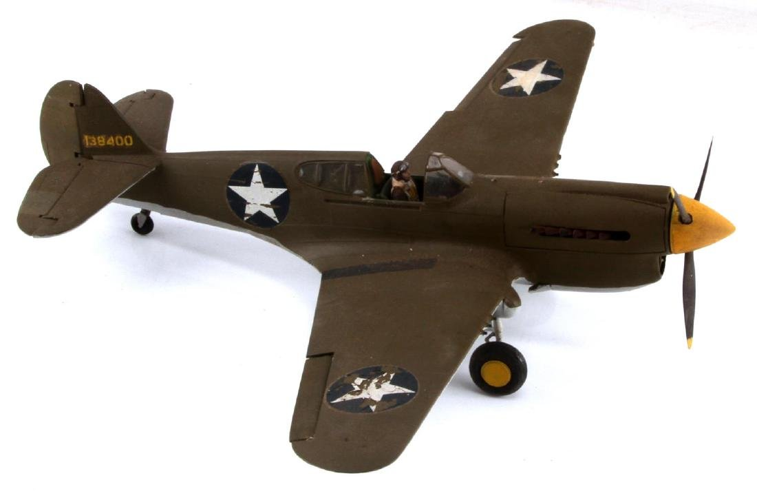 US ARMY AIR FORCE CURTISS P-40 WARHAWK MODEL PLANE