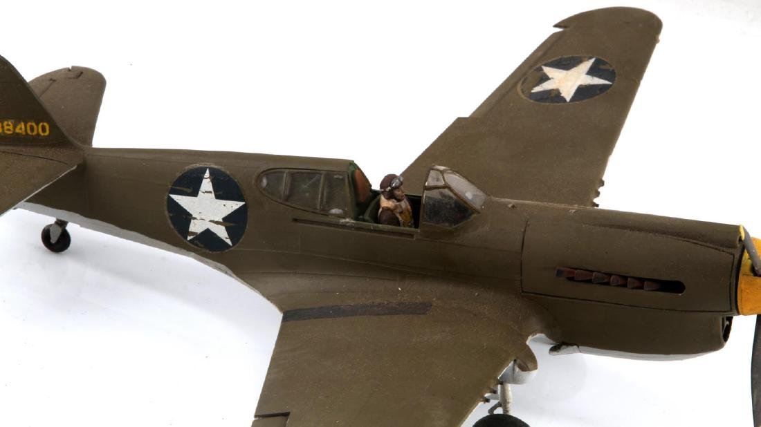 US ARMY AIR FORCE CURTISS P-40 WARHAWK MODEL PLANE - 2