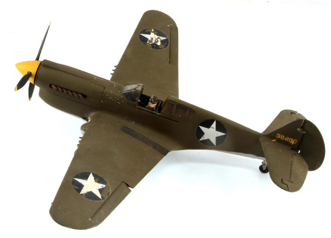 US ARMY AIR FORCE CURTISS P-40 WARHAWK MODEL PLANE - 3