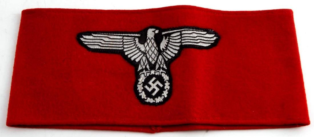 GERMAN WWII SS EAGLE ARMBAND WITH RZM TAG