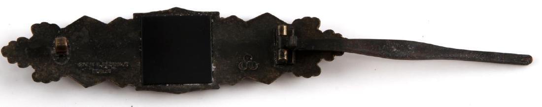 WWII GERMAN 3RD REICH BRONZE CLOSE COMBAT CLASP - 3