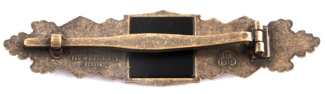 WWII GERMAN THIRD REICH BRONZE CLOSE COMBAT CLASP - 2