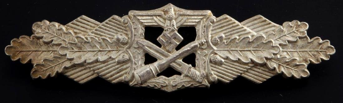 WWII GERMAN THIRD REICH SILVER CLOSE COMBAT CLASP