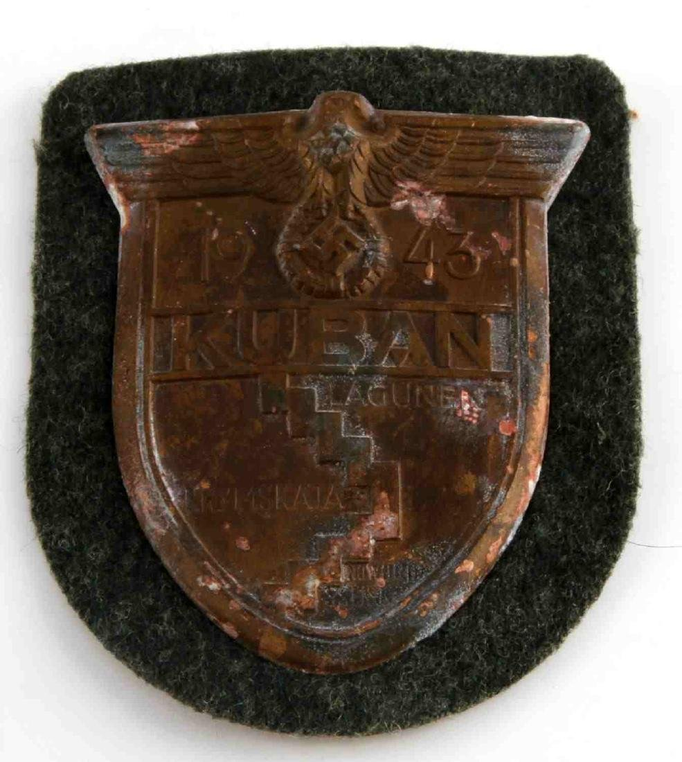 WWII GERMAN THIRD REICH KUBAN POCKET ARM SHIELD