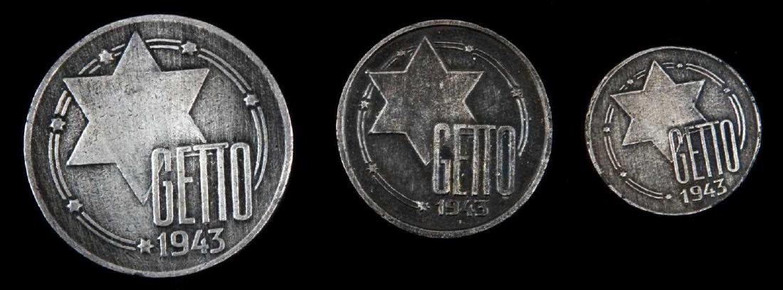 3 HOLOCAUST PERIOD COINS FROM LITZMANNSTADT GHETTO