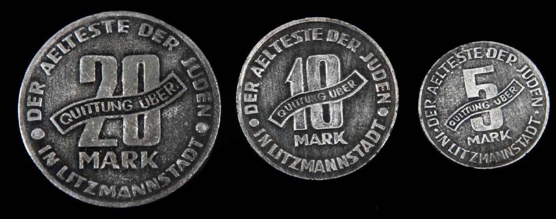 3 HOLOCAUST PERIOD COINS FROM LITZMANNSTADT GHETTO - 2