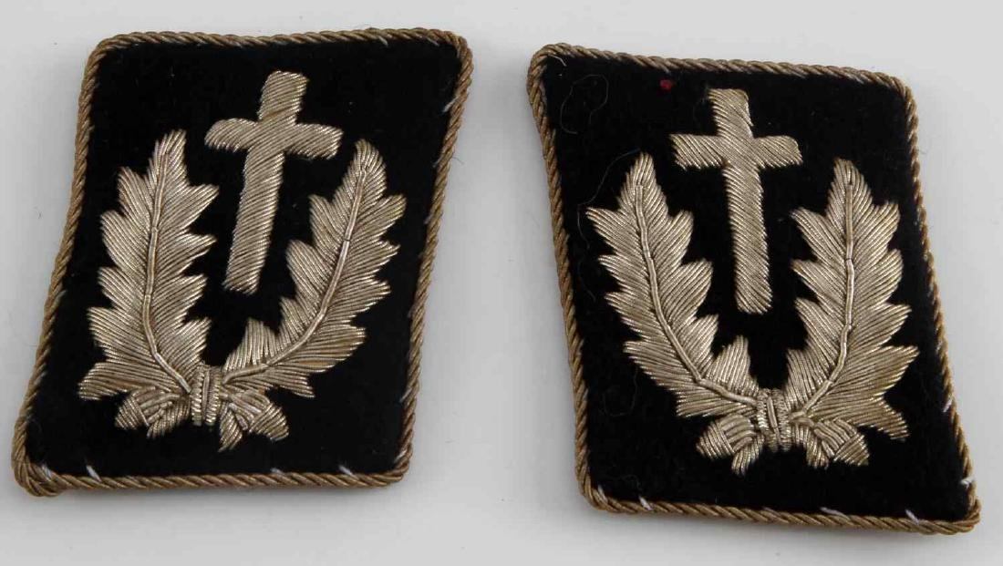 GERMAN WWII SS GOLD CHAPLAIN COLLAR TABS