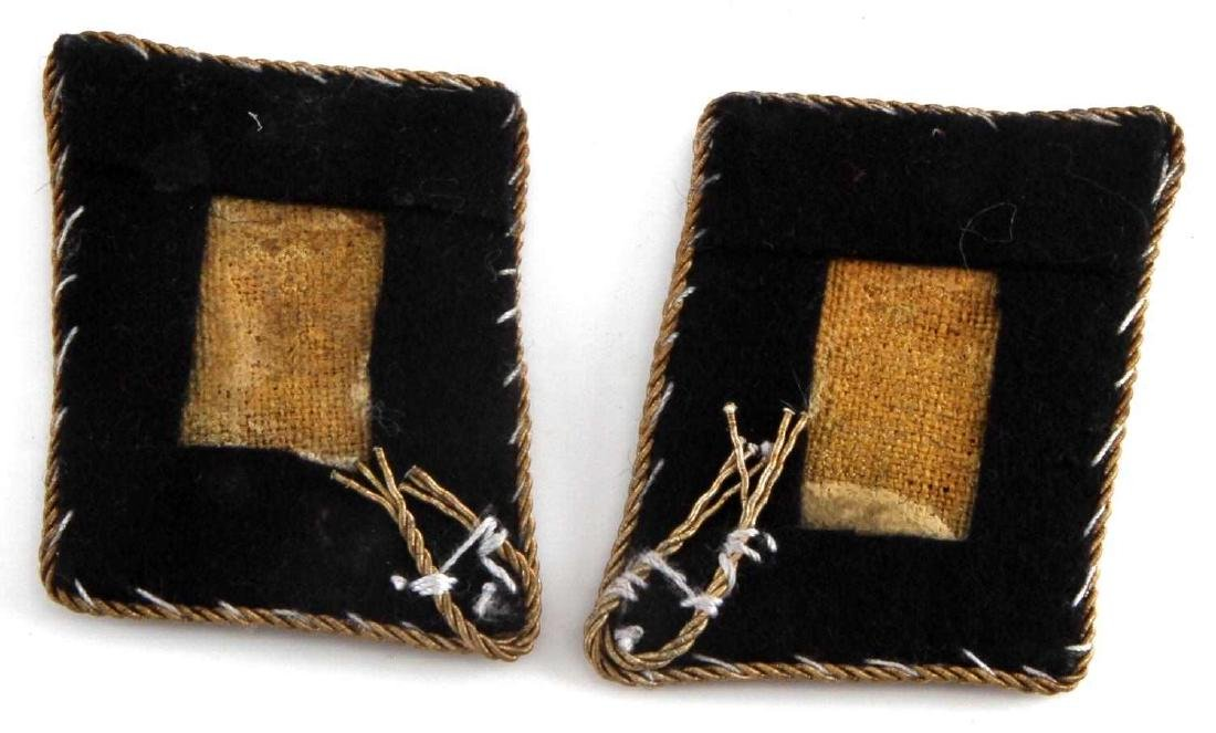 GERMAN WWII SS GOLD CHAPLAIN COLLAR TABS - 2