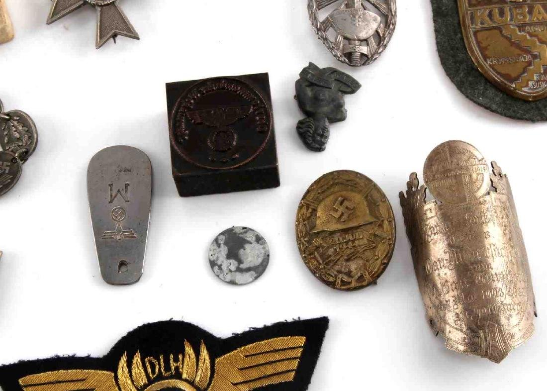 LARGE LOT OF 21 GERMAN WWII MEDALS PINS MORE - 4
