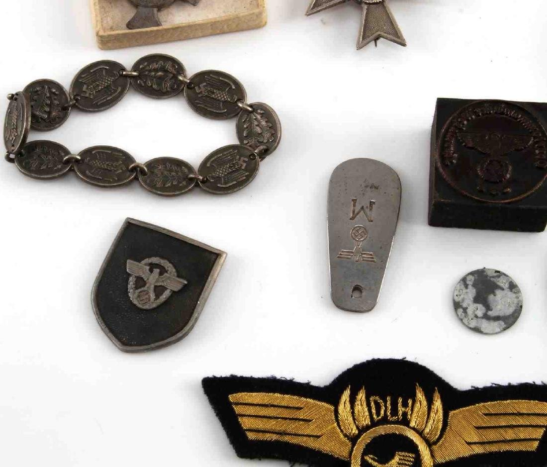 LARGE LOT OF 21 GERMAN WWII MEDALS PINS MORE - 5