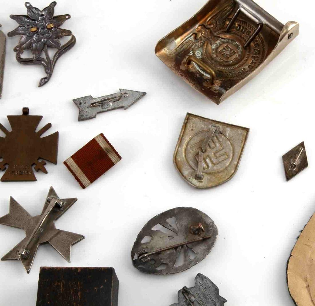 LARGE LOT OF 21 GERMAN WWII MEDALS PINS MORE - 8