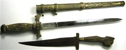ANTIQUE DAGGER FIGHTING KNIFE LOT OF 2