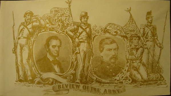 LINCOLN / McCLELLAN REVIEW OF THE ARMY COVER