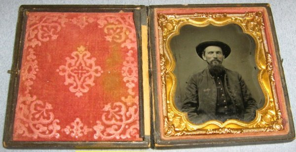 1/6 PLATE TINTYPE CIVIL WAR SOLDIER FULL COVER