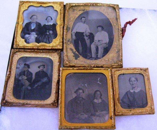 CIVIL WAR ERA AMBROTYPE IN PINCHBECK FRAME NO CASE