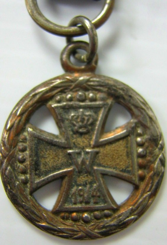 WWI GERMAN IRON CROSS WATCH FOB JEWELRY 3 ITEMS - 3
