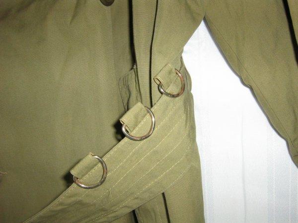WWII ORIGINAL US OFFICER MAJOR TRENCH COAT - 5