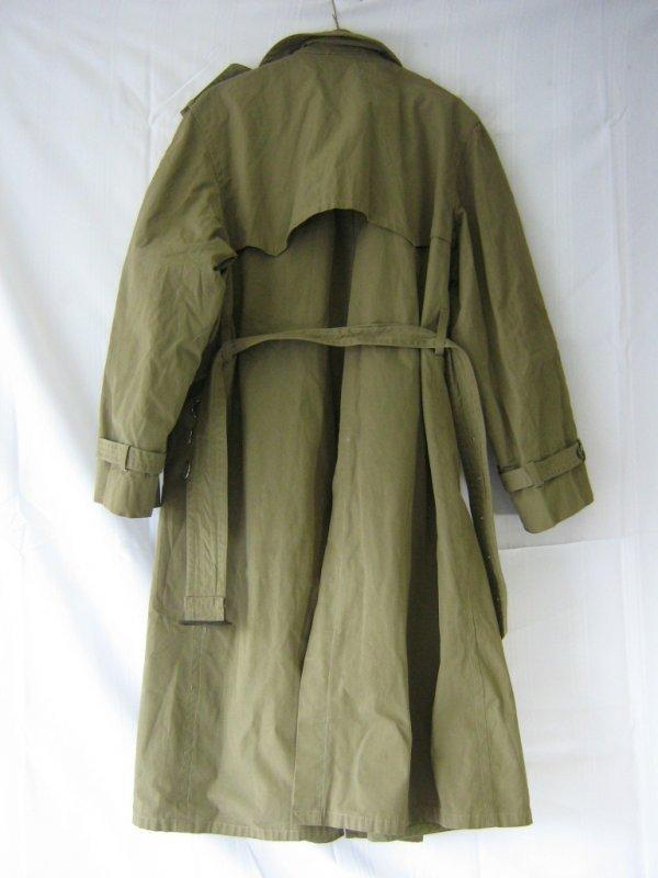 WWII ORIGINAL US OFFICER MAJOR TRENCH COAT - 8