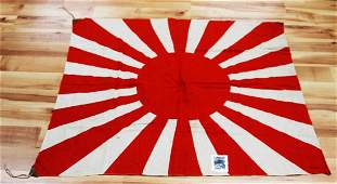 WWII JAPANESE BATTLE FLAG US SOLDIER BRING BACK
