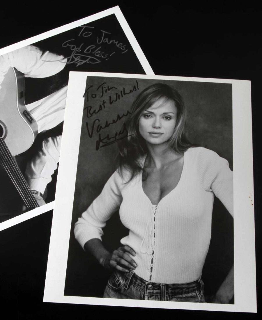 5 AUTOGRAPHED PHOTOGRAPHS VANESSA ANGEL AND MORE - 5