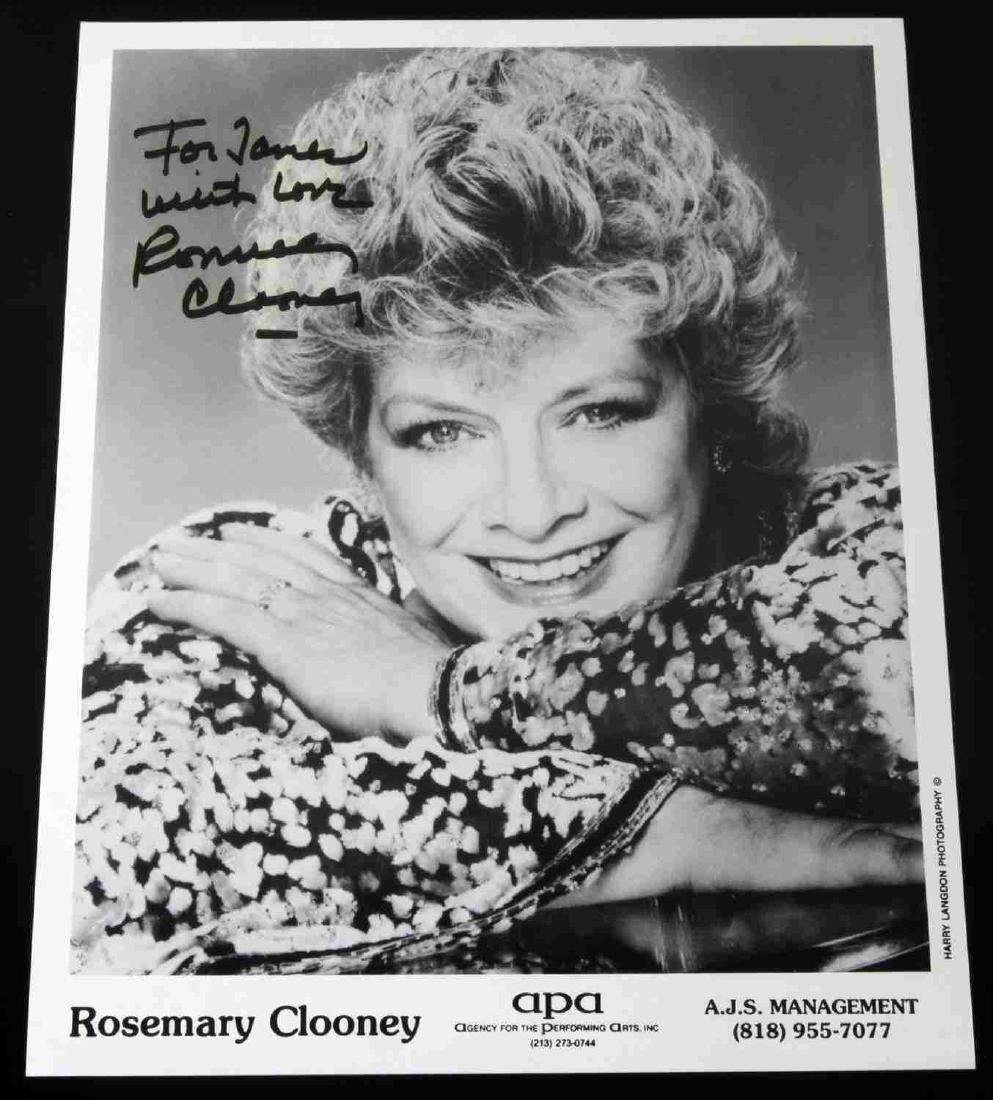 ROSEMARY CLOONEY FAMOUS SINGER & ACTRESS AUTOGRAPH