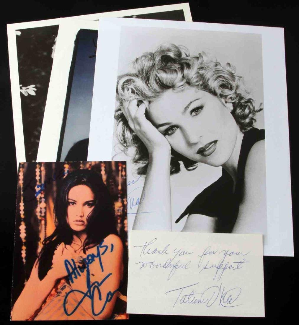 5 AUTOGRAPHED PHOTOGRAPHS AND LETTERS