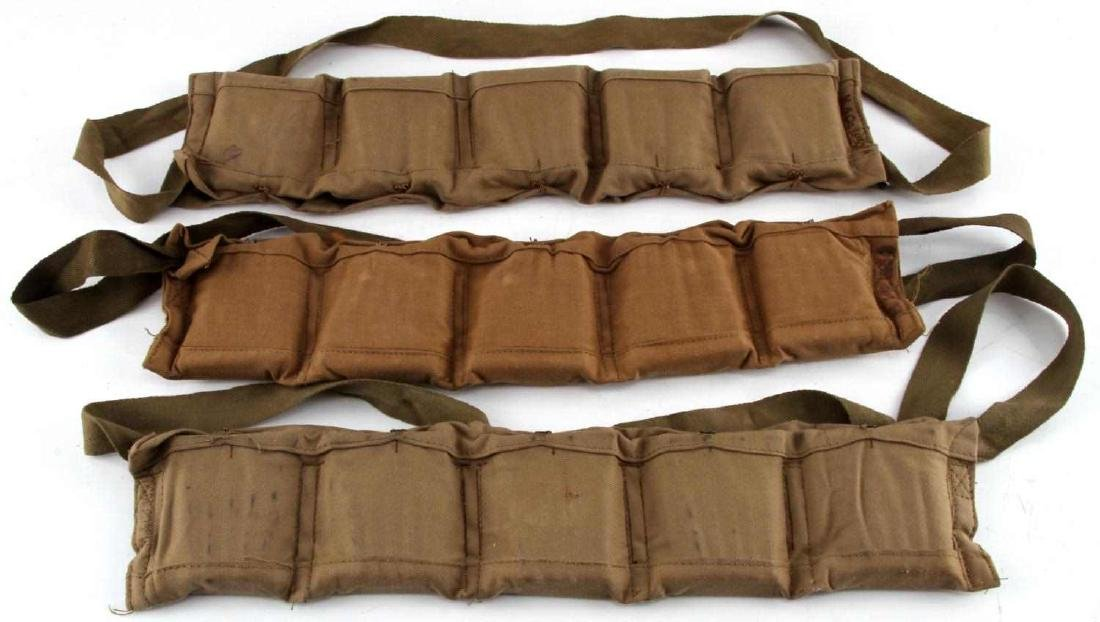 WWI WWII BRITISH ARMY .303 CLIP AMMO POUCH LOT