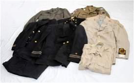 WWI WWII VIETNAM US MILITARY CLOTHES UNIFORM LOT