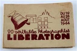 WWII FRENCH PARIS LIBERATION PHOTO ALBUM LOT