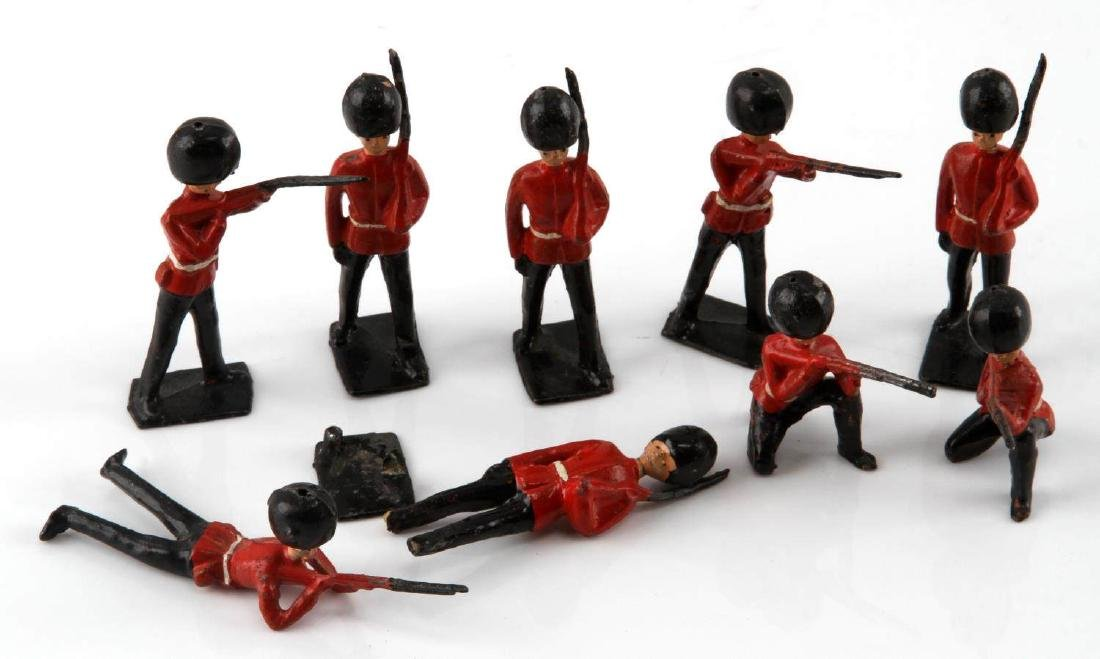NINE BRITISH TOY SOLDIERS PALACE HONOR GUARDS