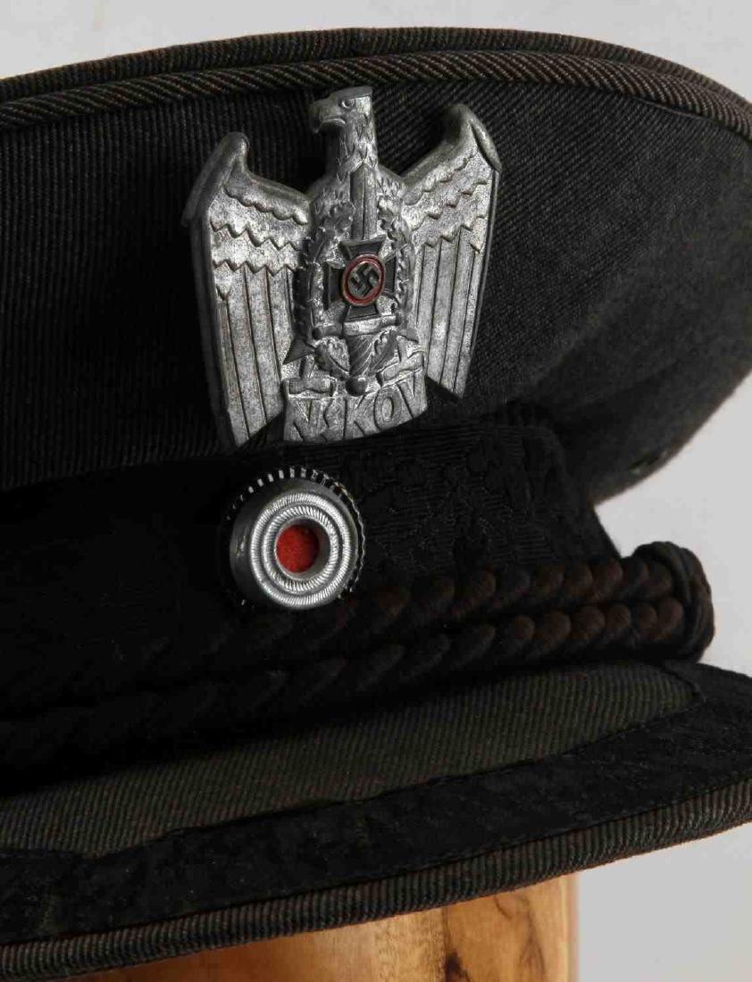 WWII GERMAN THIRD REICH NSKOV VISOR CAP - 2