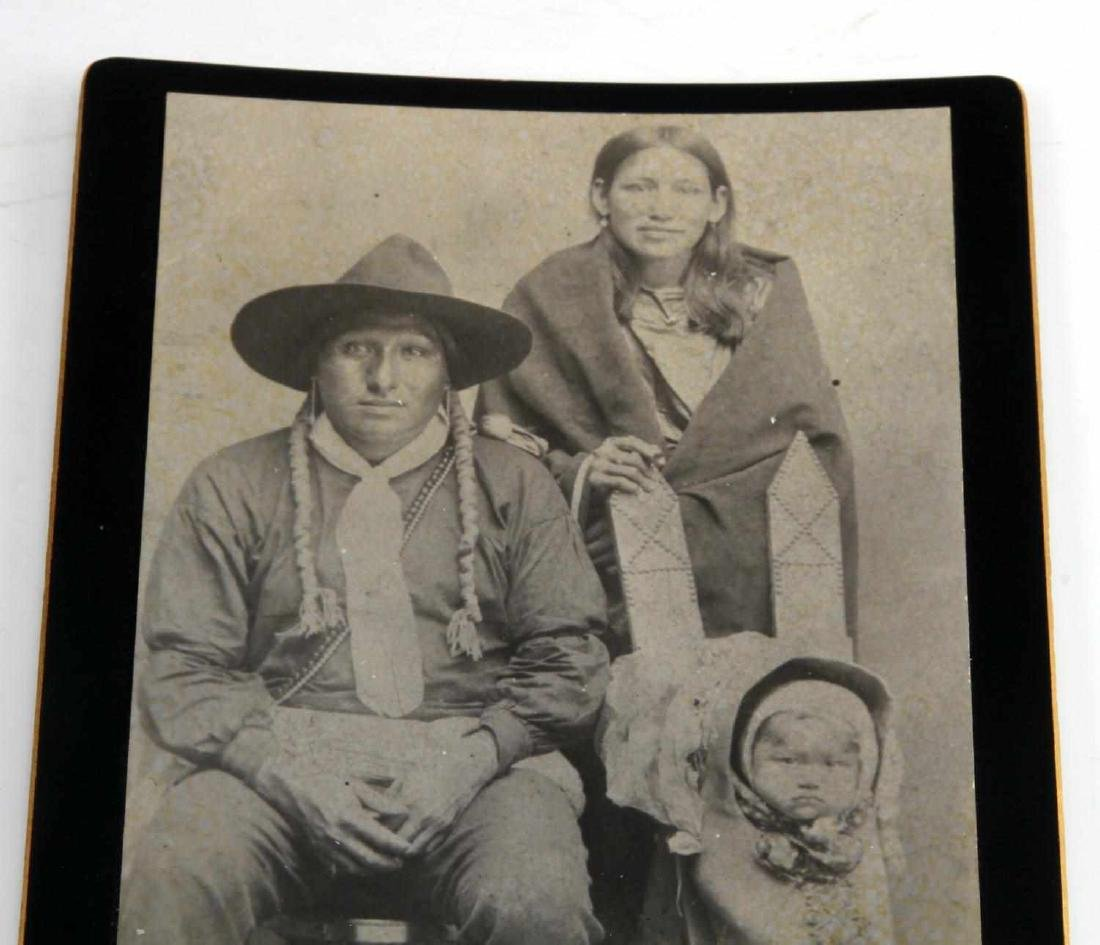 OLD WEST INDIAN FAMILY COWBOY CABINET CARD PHOTO - 2