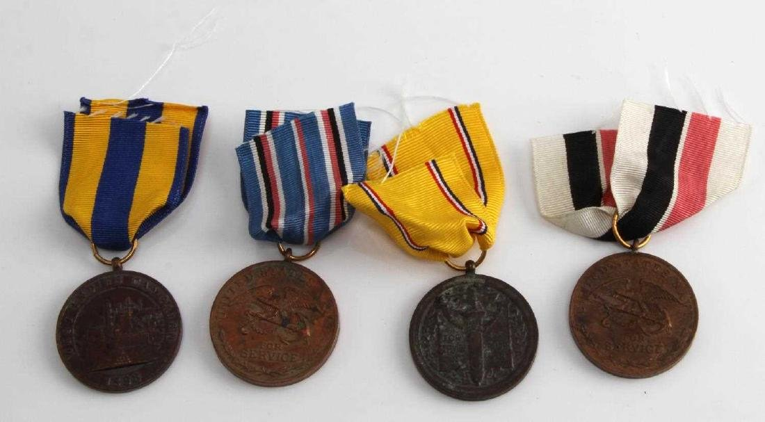 US PRE WWI MILITARY CAMPAIGN MEDAL LOT OF 4