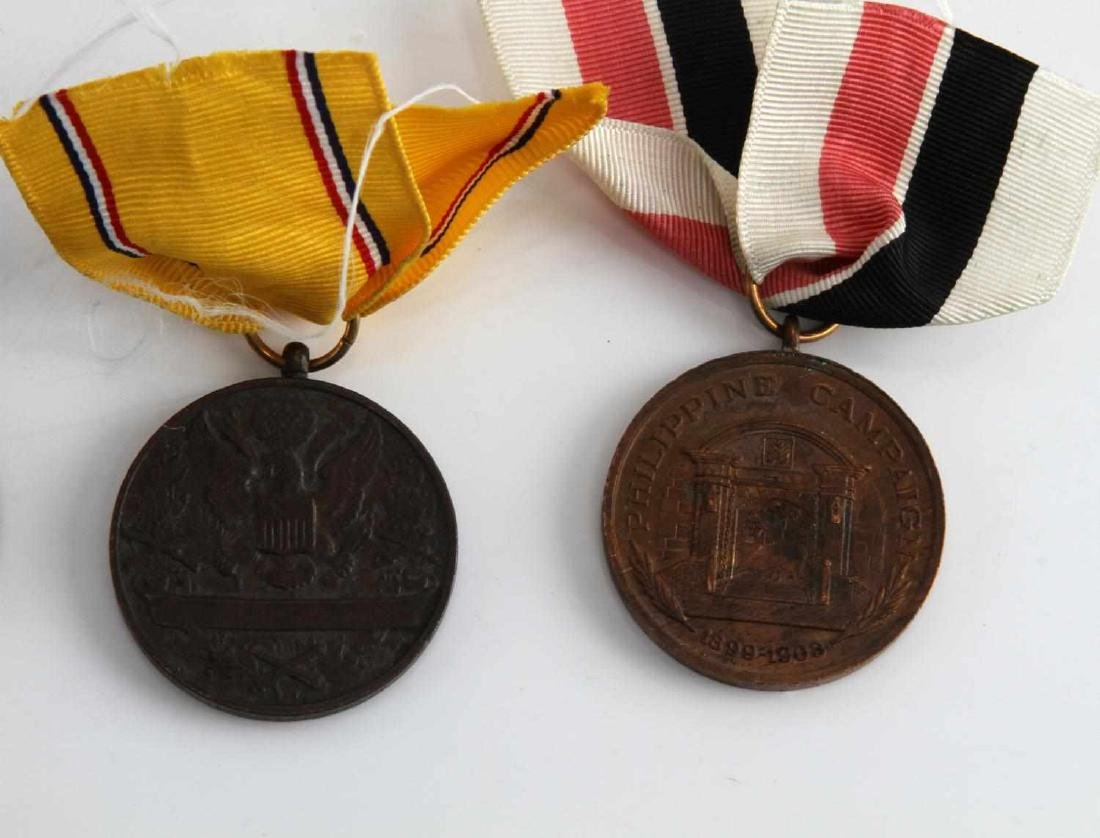 US PRE WWI MILITARY CAMPAIGN MEDAL LOT OF 4 - 4