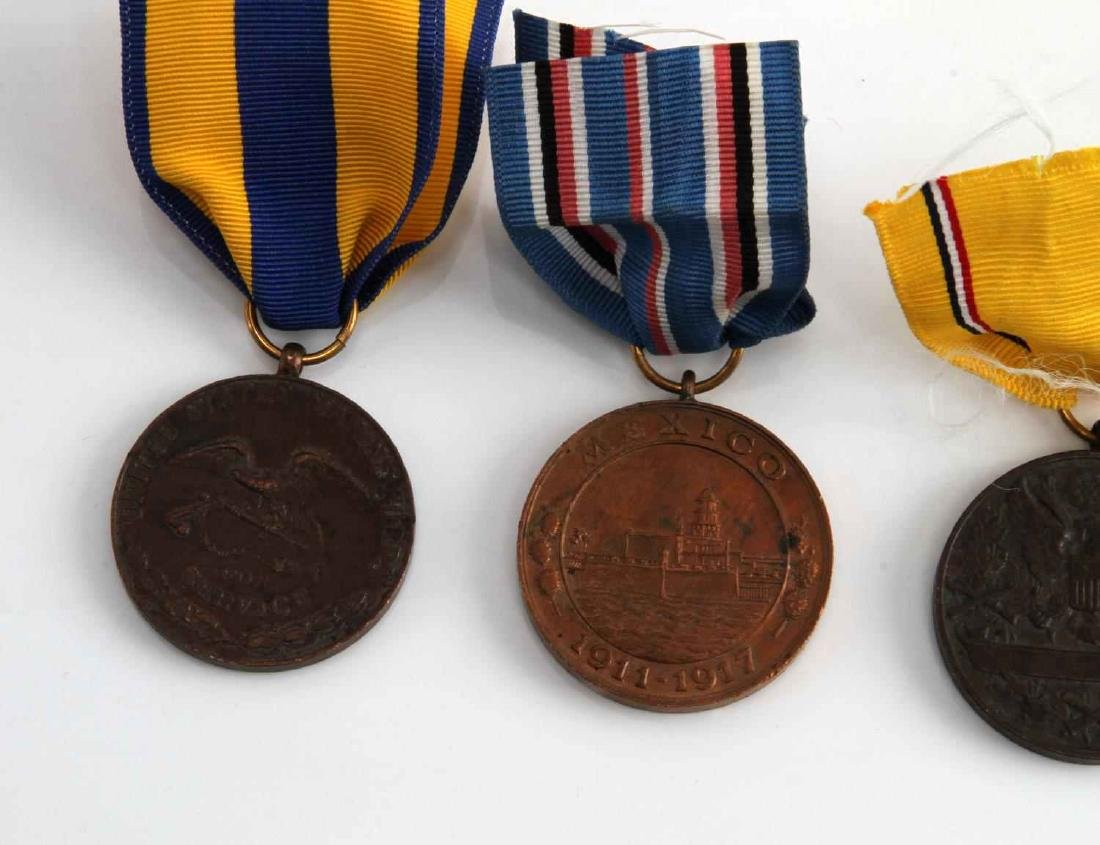 US PRE WWI MILITARY CAMPAIGN MEDAL LOT OF 4 - 5