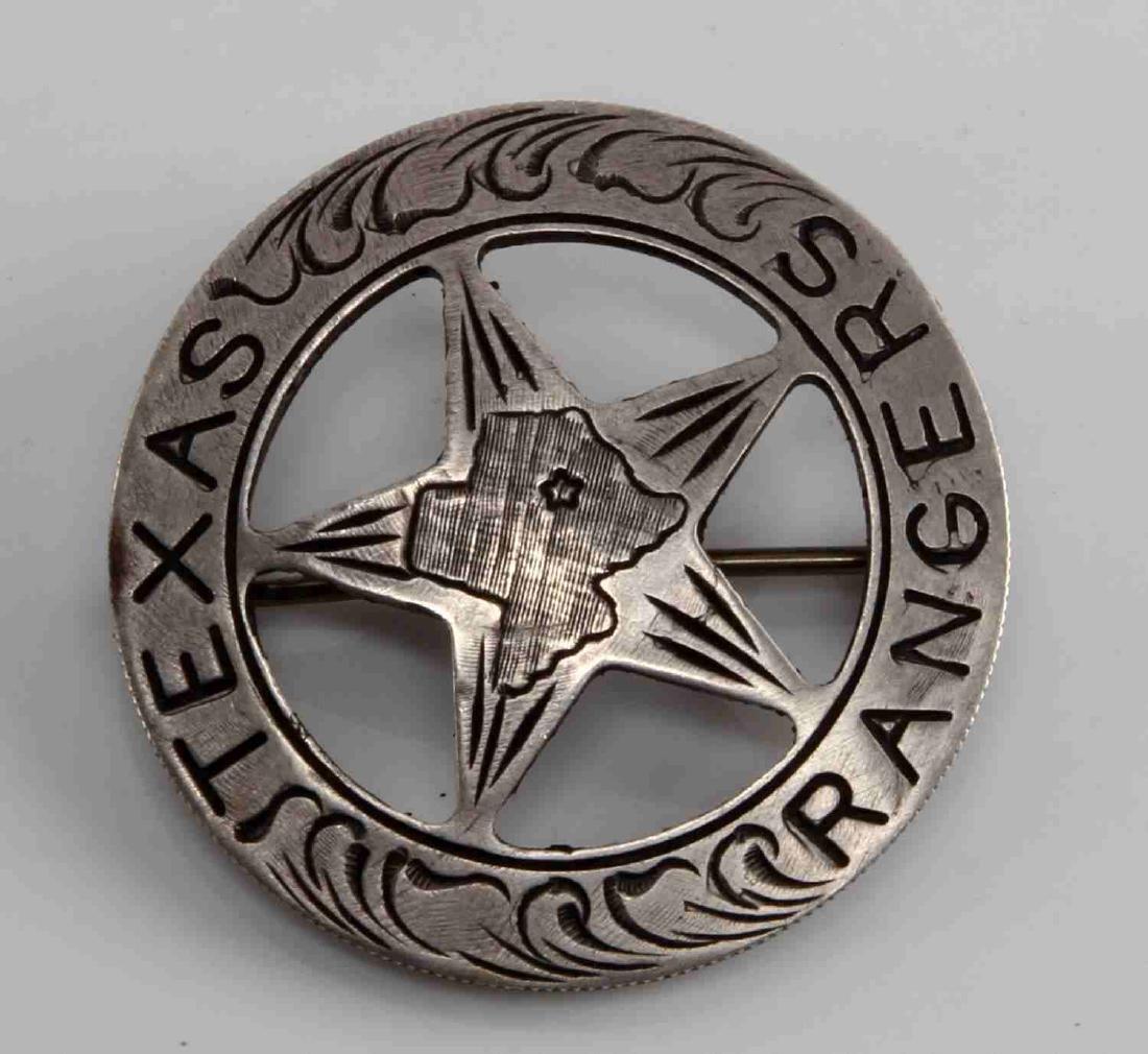 TEXAS RANGERS COWBOY ERA MEXICAN PESO LAW BADGE
