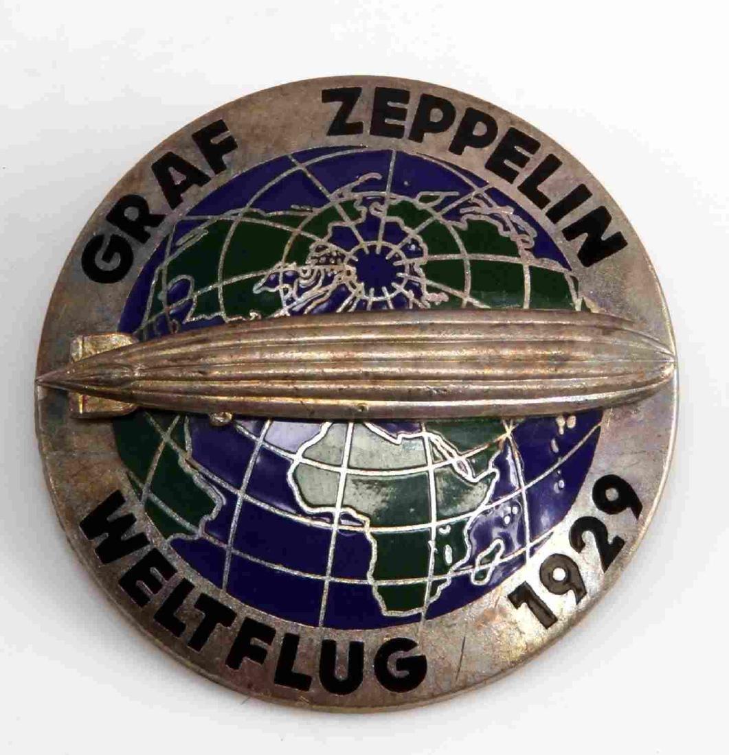 GERMAN WEIMAR REPUBLIC GRAF ZEPPELIN 1929 BADGE