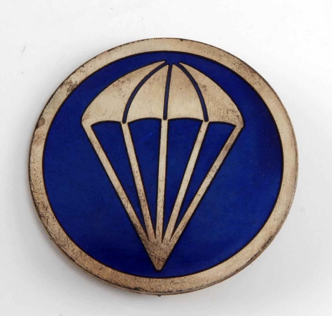 US WWII ARMY AIRBORNE PARA EM OVERSEAS CAP BADGE