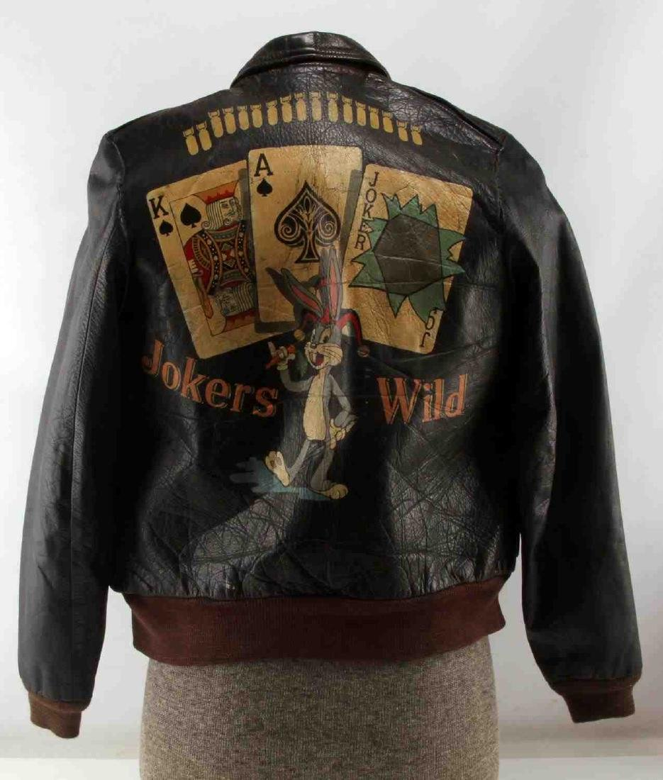 USAAF WWII BUGS BUNNY A2 LEATHER FLIGHT JACKET - 3
