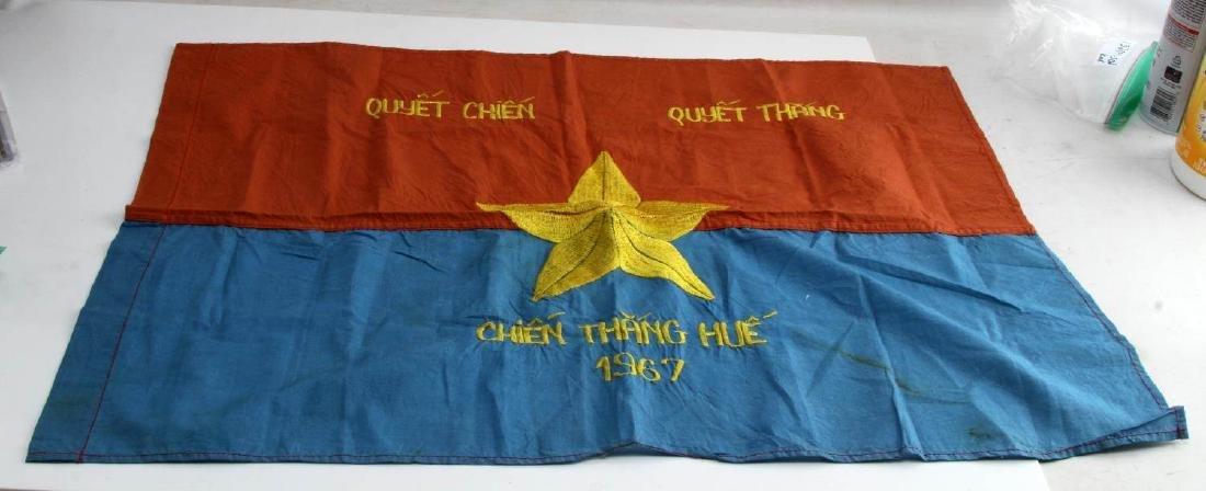 VIETNAM WAR ERA VIET CONG VC COMBAT BATTLE FLAG